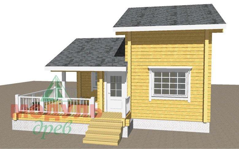 Проект двухэтажной бани из бруса «Афина» - макет 3