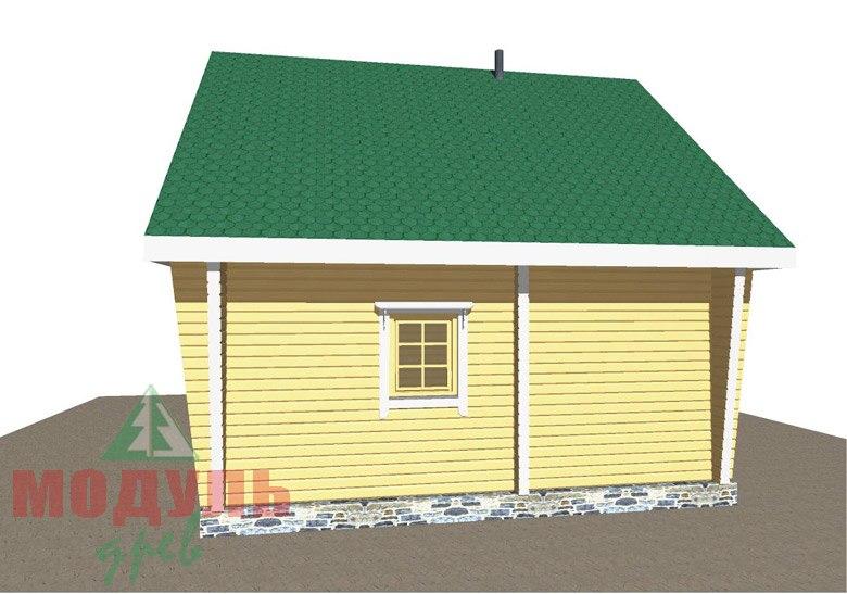 Проект брусовой бани «Александрия» - макет 5