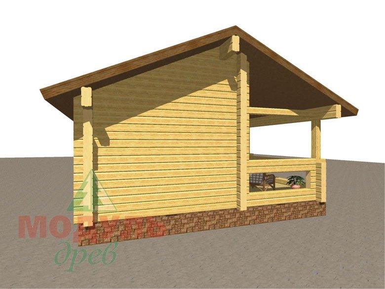 Проект брусовой бани «Икша» - макет 3