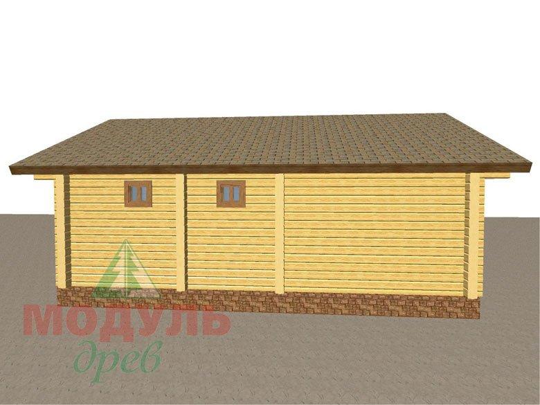 Проект брусовой бани «Икша» - макет 2