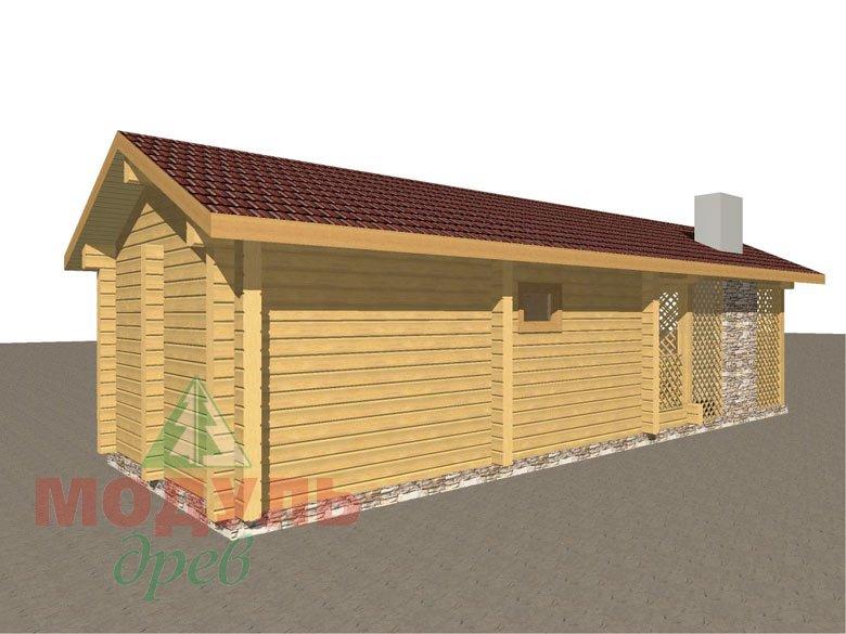 Деревянная баня из бруса «Ижма» - макет 4