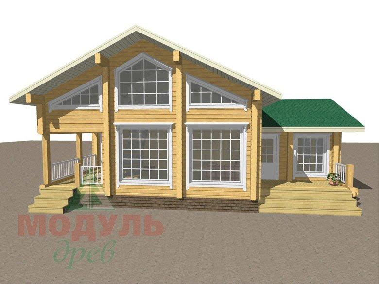 Проект гостевого дома-бани из бруса «Калуга» - макет 1