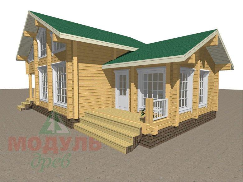 Проект дома-бани из бруса «Калуга» - макет 2