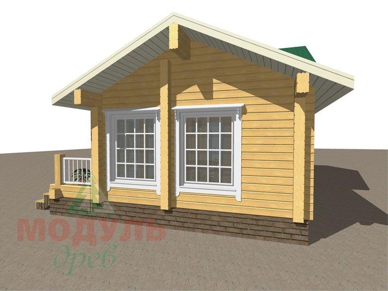 Проект дома-бани из бруса «Калуга» - макет 3