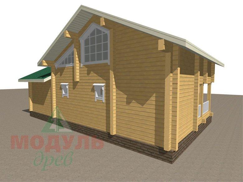Проект дома-бани из бруса «Калуга» - макет 5