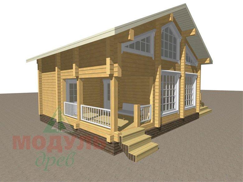 Проект дома-бани из бруса «Калуга» - макет 6
