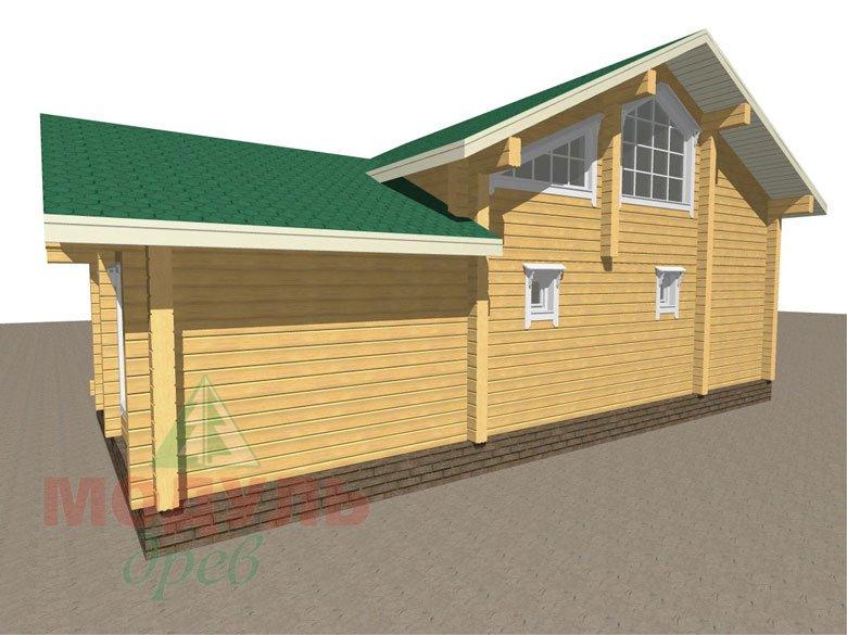 Проект дома-бани из бруса «Калуга» - макет 4