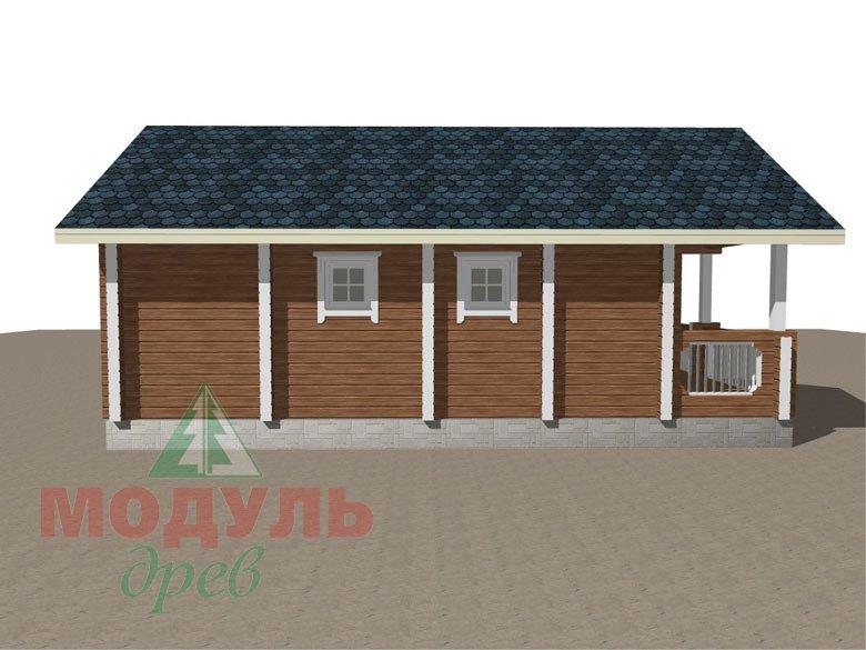 Прект одноэтажной бани из бруса «Онега» - макет 6