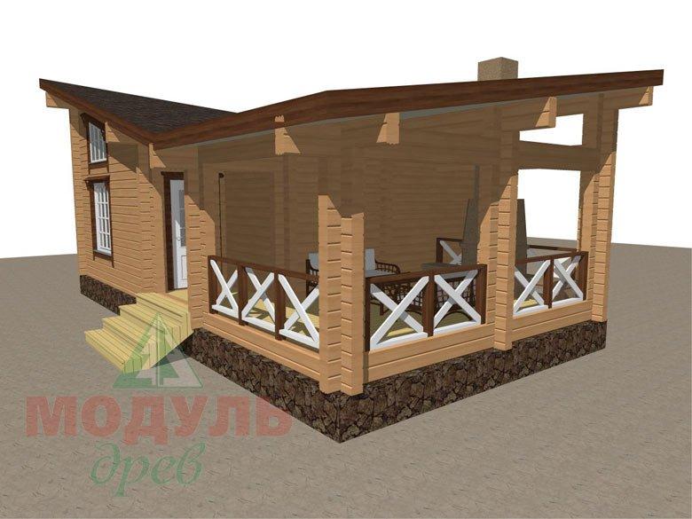 Проект уютной бани из бруса «Печора» - макет 3