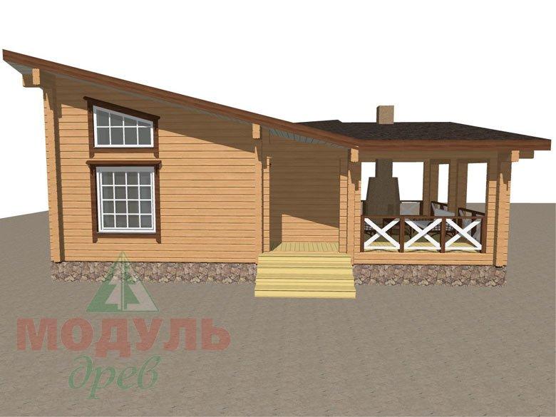 Проект уютной бани из бруса «Печора» - макет 2