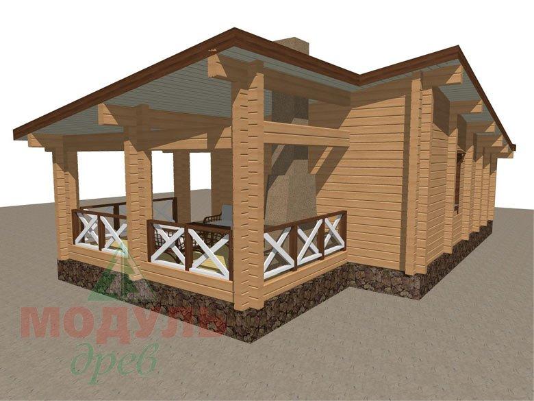 Проект уютной бани из бруса «Печора» - макет 4