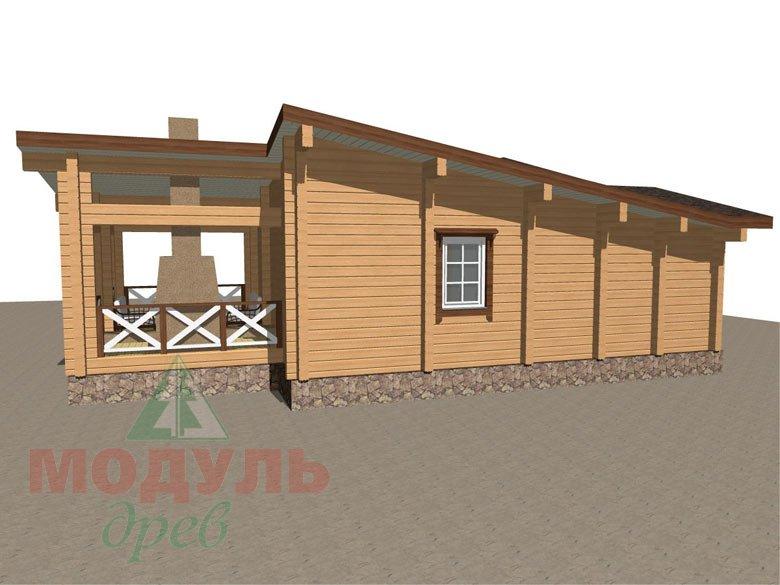 Проект уютной бани из бруса «Печора» - макет 5