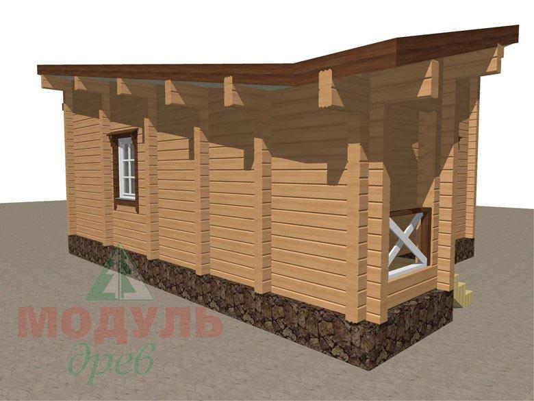 Проект уютной бани из бруса «Печора» - макет 6