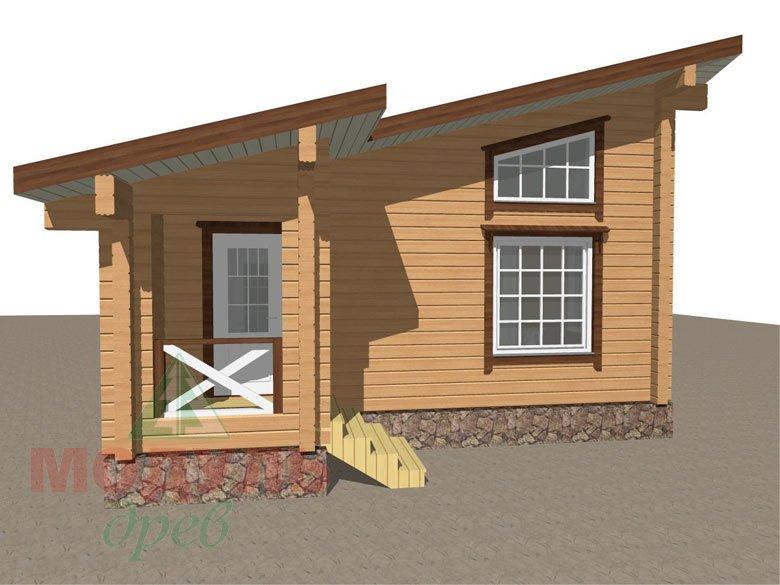 Проект уютной бани из бруса «Печора» - макет 7