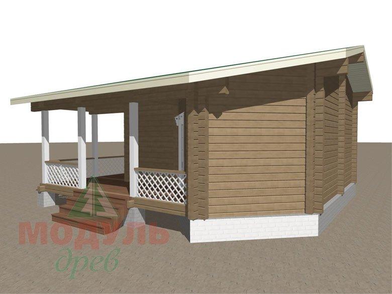 Проект деревянной бани из бруса «Пенза» - макет 4