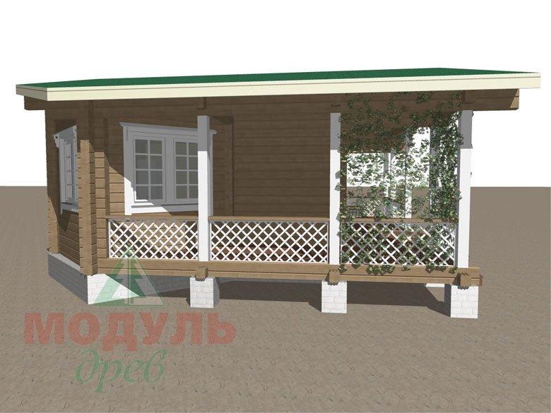 Проект деревянной бани из бруса «Пенза» - макет 7