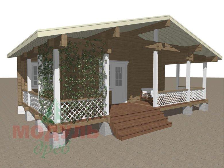 Проект деревянной бани из бруса «Пенза» - макет 1