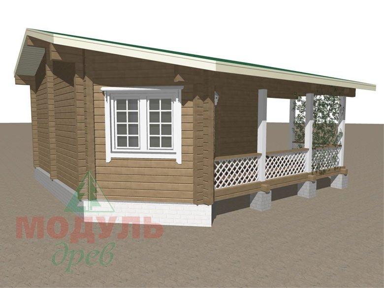 Проект деревянной бани из бруса «Пенза» - макет 6