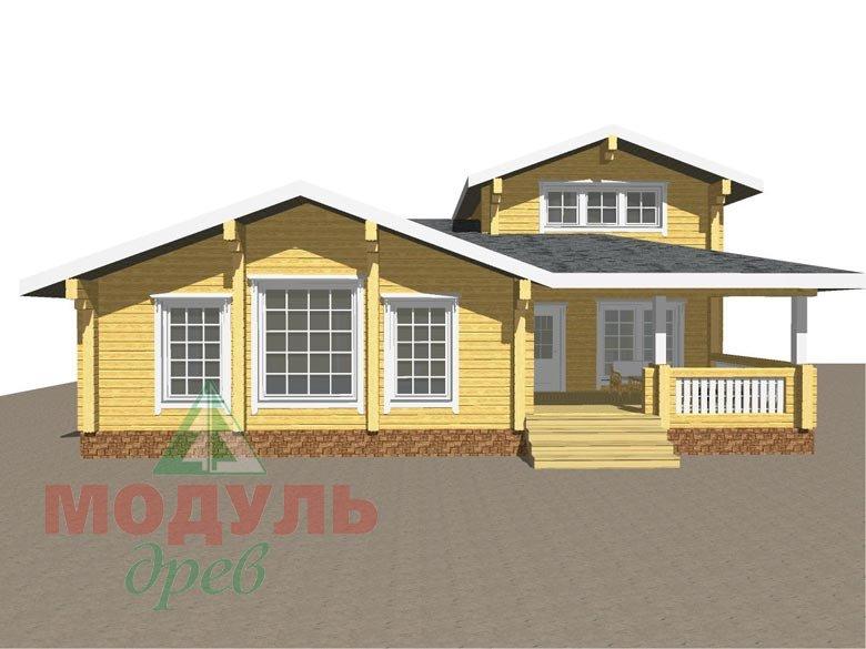 Проект дома - бани из бруса «Россошь» - макет 2
