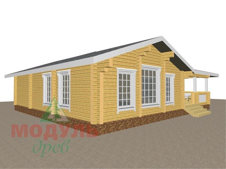 Проект дома - бани из бруса «Россошь» - макет 3