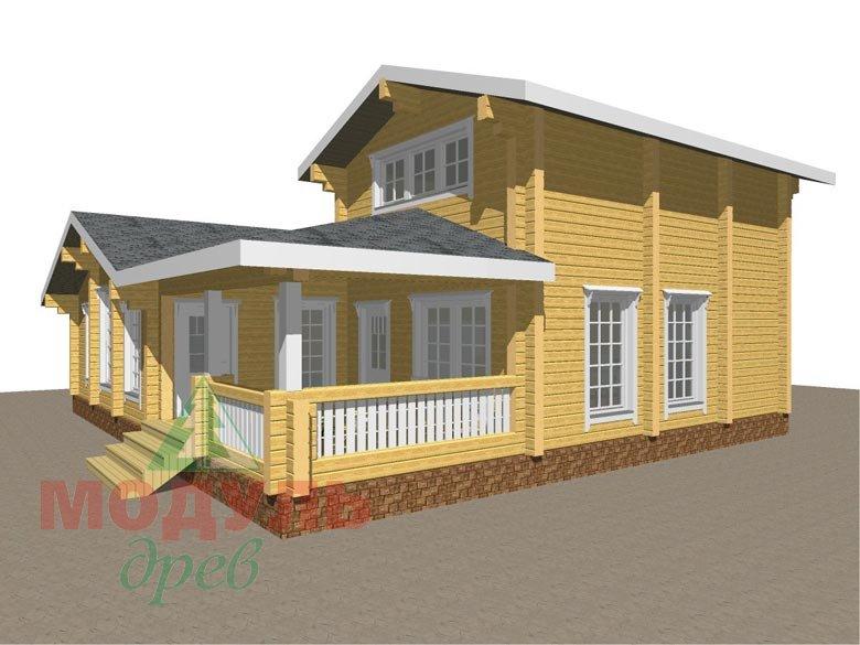Проект дома - бани из бруса «Россошь» - макет 1