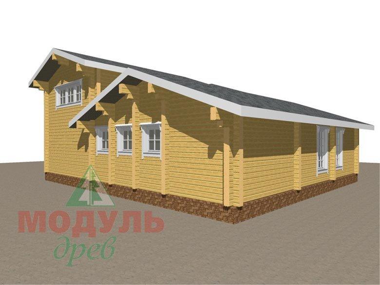 Проект дома - бани из бруса «Россошь» - макет 4