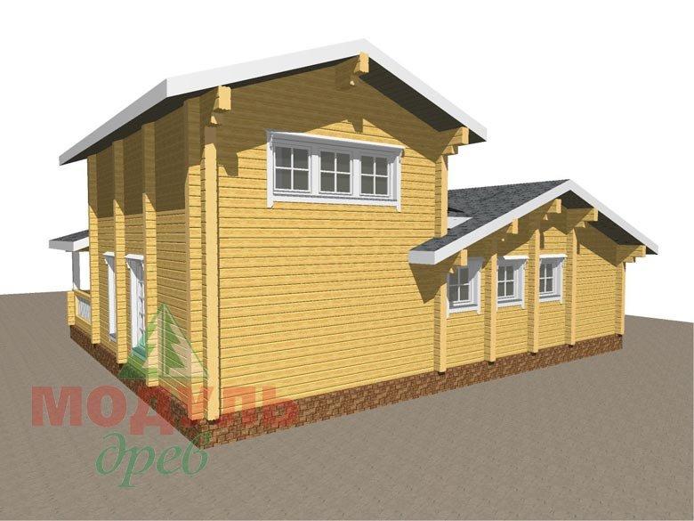 Проект дома - бани из бруса «Россошь» - макет 5