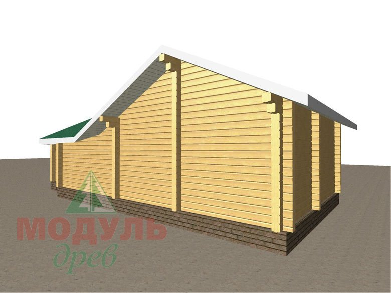 Проект бани из бруса «Юрола» - макет 4