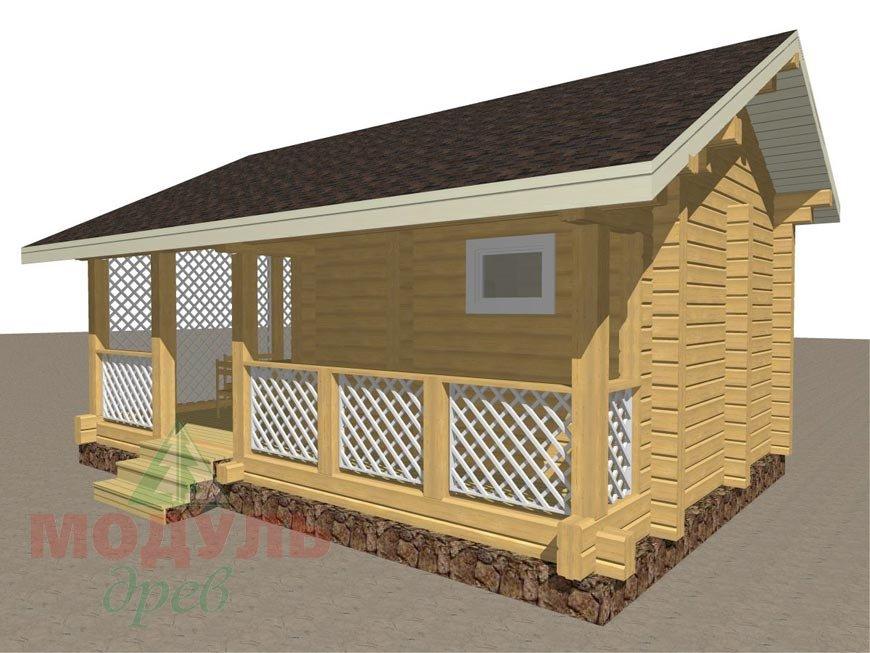 Проект деревянной бани «Уют» - макет 2