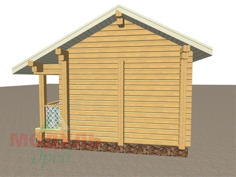Проект деревянной брусовой бани «Уют» - макет 3