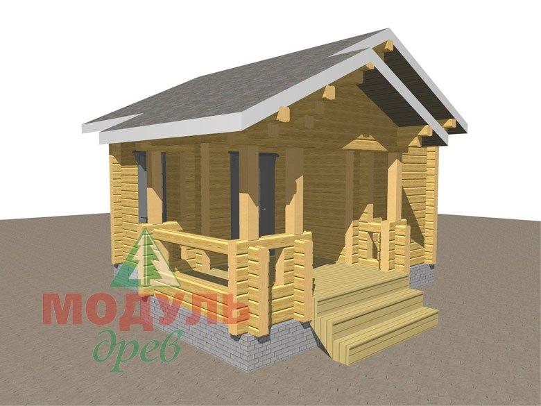 Проект бани из бруса «Вохма» - макет 1