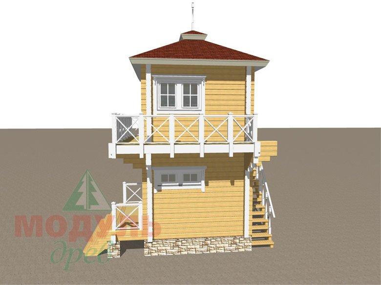Проект двухэтажной бани из бруса «Ялта» - макет 2