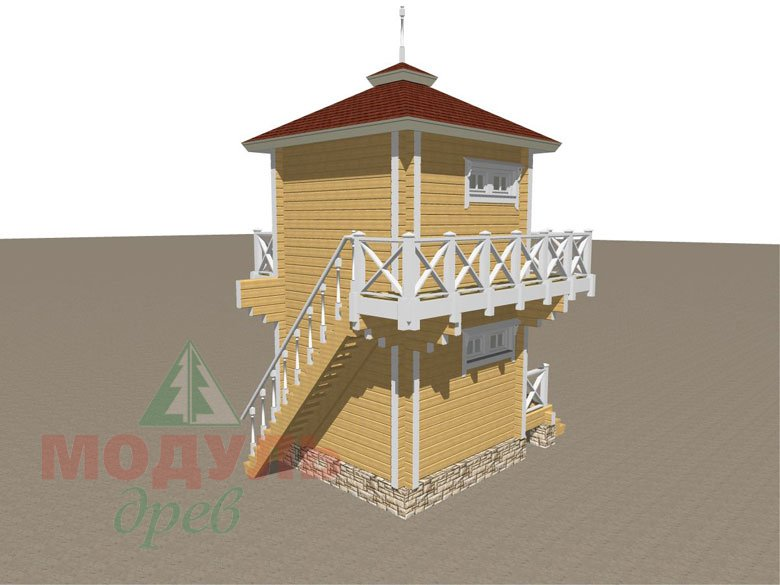 Проект бани из бруса «Ялта» - макет 4