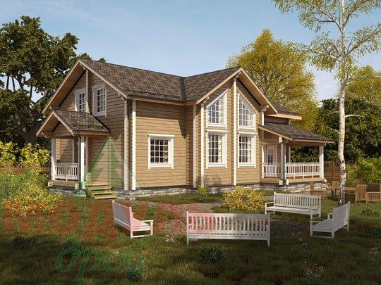 Двухэтажный брусовой дом «Ангарск»