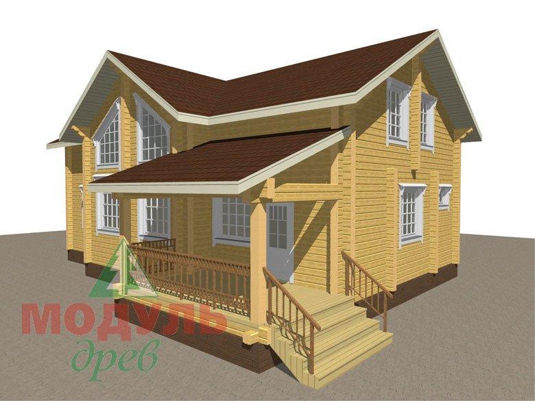 Проект дома из бруса «Ангарск» - макет 1