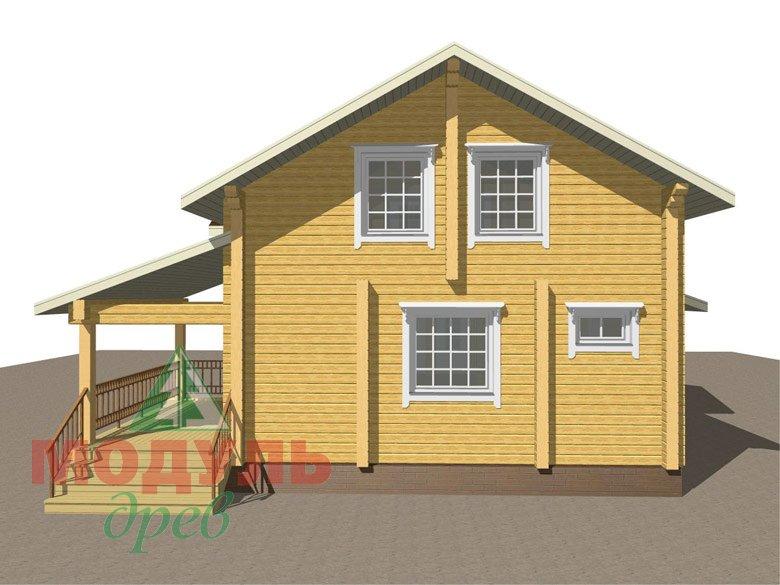 Дом из бруса «Ангарск» - макет 2