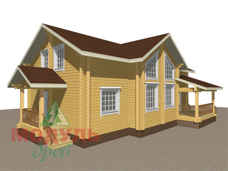 Дом из бруса «Ангарск» - макет 7