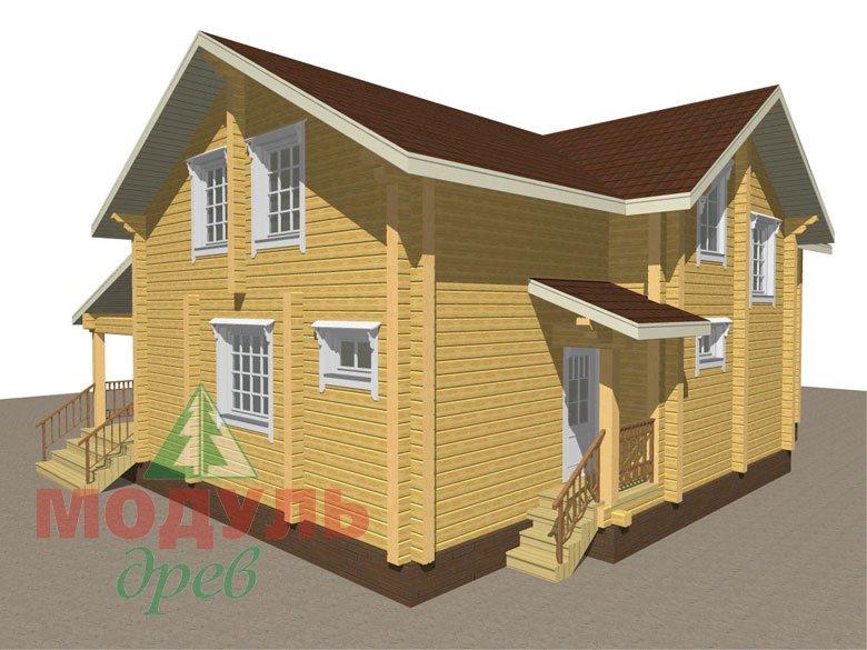 Дом из бруса «Ангарск» - макет 3