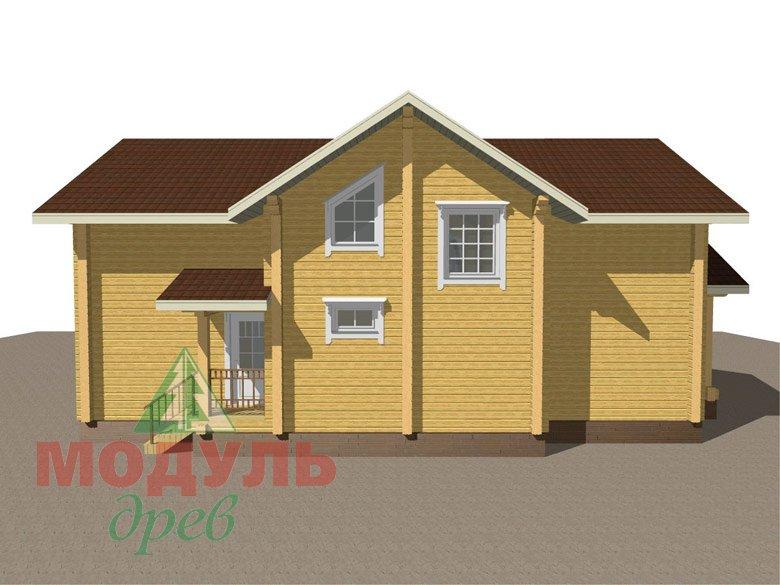 Дом из бруса «Ангарск» - макет 4