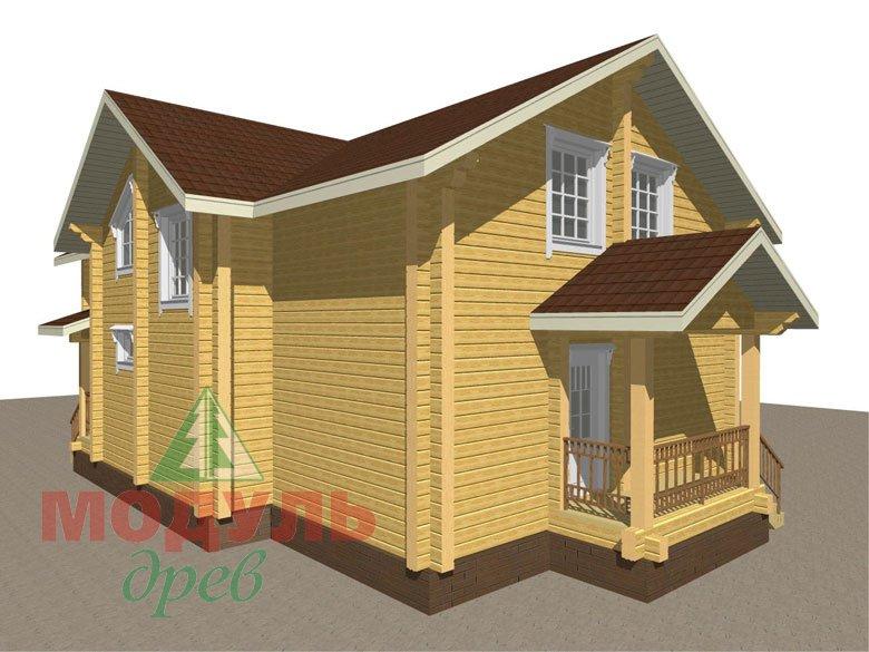 Дом из бруса «Ангарск» - макет 5