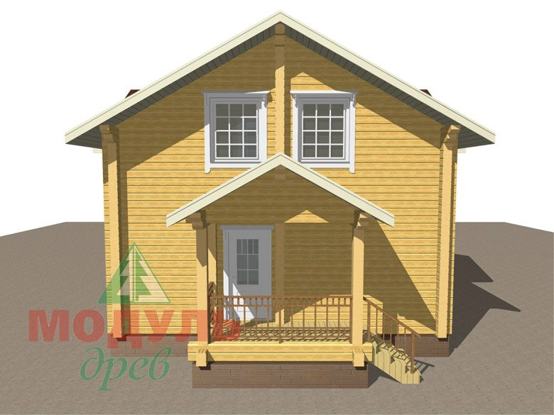 Дом из бруса «Ангарск» - макет 6