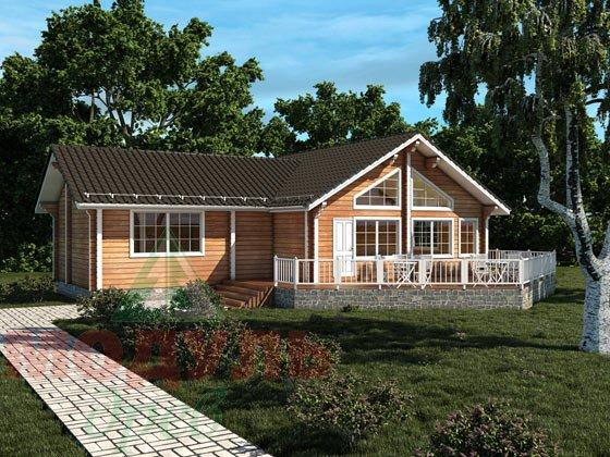 Проект дома  из бруса «Апрель»