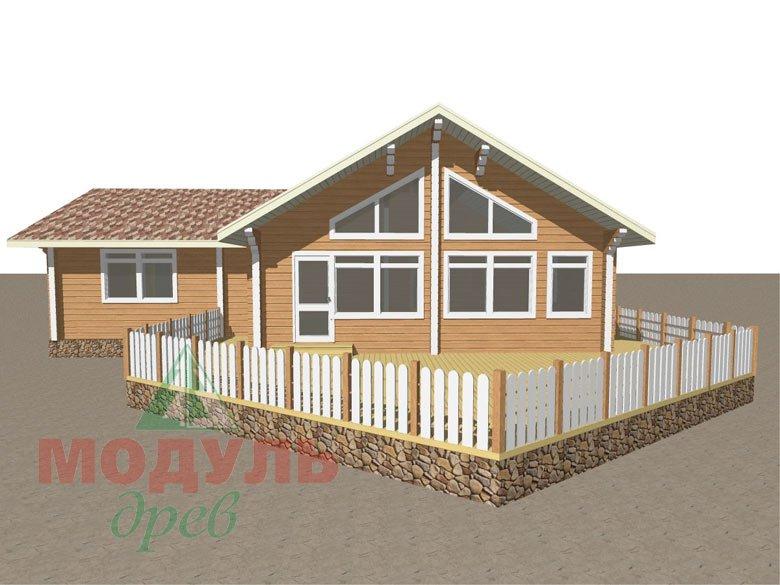 Проект дома из бруса «Апрель» макет 1