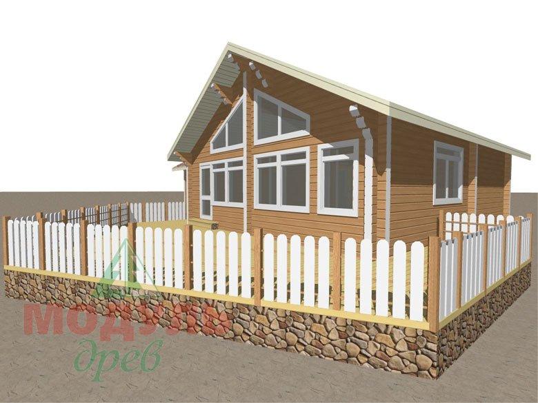 Дом из бруса «Апрель» макет 2