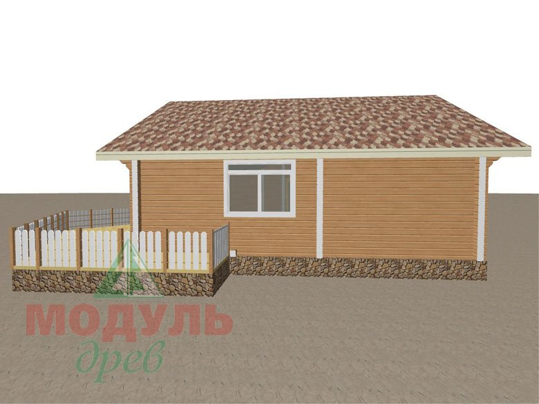Дом из бруса «Апрель» макет 3
