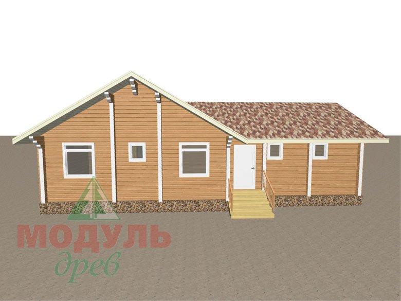 Дом из бруса «Апрель» макет 5