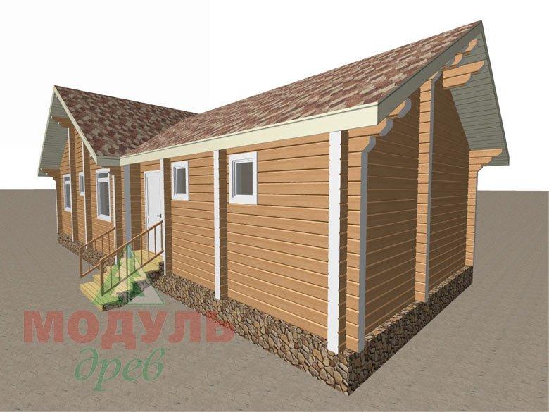 Дом из бруса «Апрель» макет 6