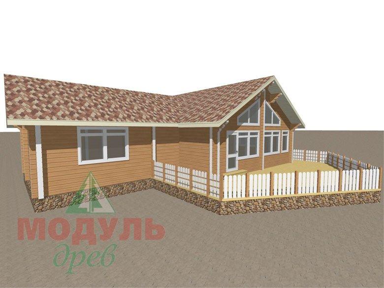 Дом из бруса «Апрель» макет 7