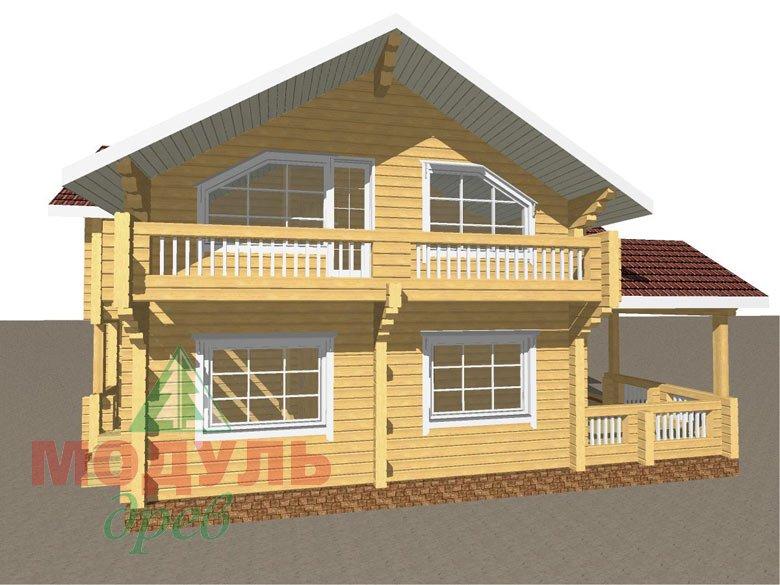 Проект дома из бруса «Аркон» - макет 1