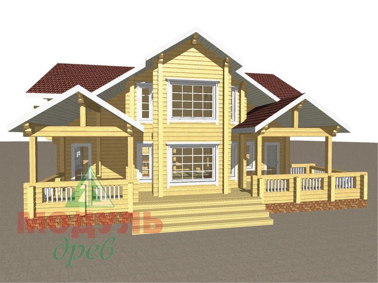 Проект дома из бруса «Аркон» - макет 3